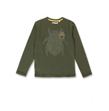 144492 Discover teen boys shirt olive night+black (12 pcs)