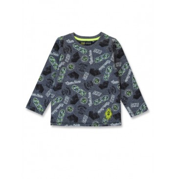 144494 Game league small boys shirt blue melange+dark grey melange (12 pcs)