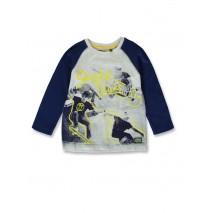 144496 Game league small boys shirt light grey melange+grey melange (12 pcs)