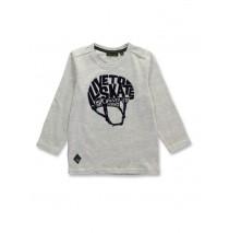 144497 Game league small boys shirt light grey melange+anthracite melange (12 pcs)