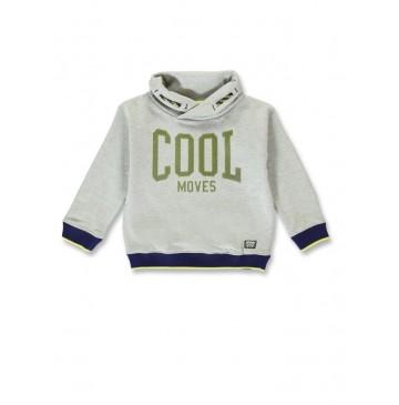 144498 Game league small boys sweatshirt grey melange+dark grey melange (12 pcs)