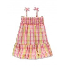 144787 Code create small girls dress pink-yellow (10 pcs)
