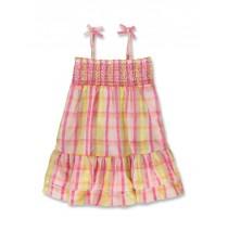 144787 Code create small girls dress pink-yellow (10 pcs)
