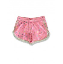 144794 Designing emotion small girls short fushia pink+mint leaf (12 pcs)