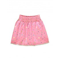 144796 Designing emotion small girls skirt fushia pink+mint leaf(12 pcs)