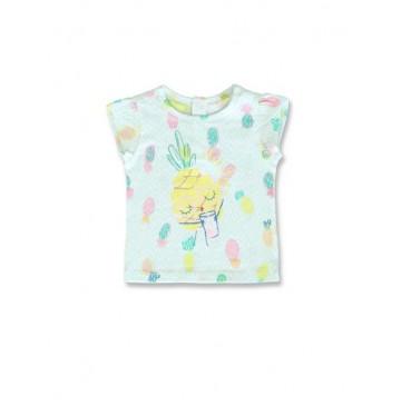 144814 Empower up baby girls shirt fair aqua+orchid pink (8 pcs)