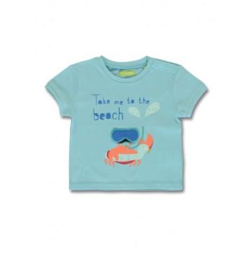 144831 Empower up baby boys shirt limelight+angel blue (8 pcs)