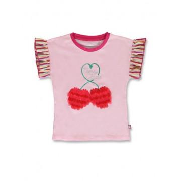 144838 Code create small girls shirt orchid pink+canteloupe  (12 pcs)