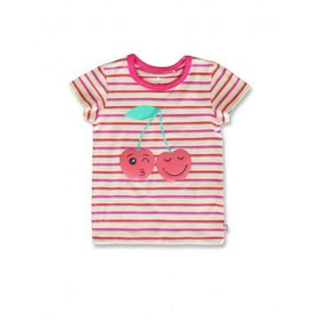 144839 Code create small girls shirt beetroot purple+princess blue  (12 pcs)