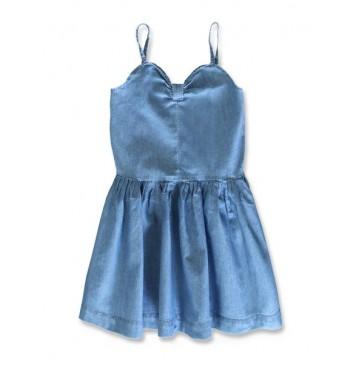 144863 Code create small girls denim dress light blue (10 pcs)