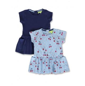 144903 Code create baby girls twopack dress patriot blue+light grey (8 pcs)