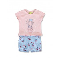 Code create baby girls set orchid pink+light grey melange (8 pcs)