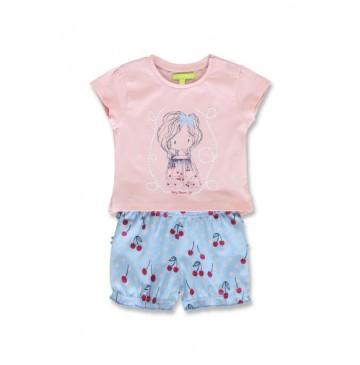 144905 Code create baby girls set orchid pink+light grey melange (8 pcs)