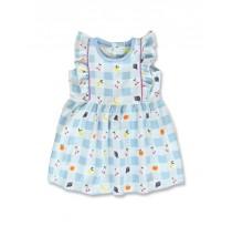 144906 Code create baby girls dress blue bell+bachelor button (8 pcs)