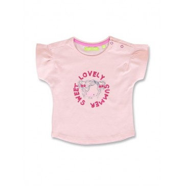 144909 Code create baby girls shirt orchid pink+optical white (8 pcs)