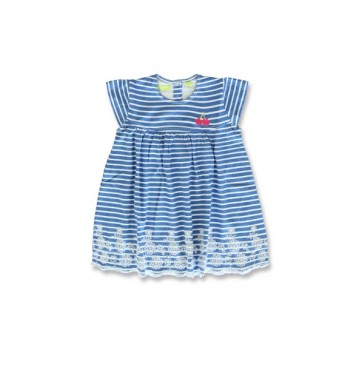 144914 Code create baby girls dress blue+beetroot purple (8 pcs)