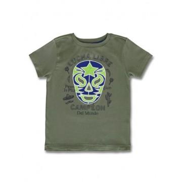 144956 Designing emotion small boys shirt pesto+princess blue (12 pcs)
