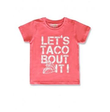 144961 Designing emotion small boys shirt spiced coral+princess blue  (12 pcs)
