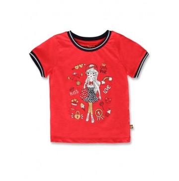 145040 Empower up small girls shirt poinsetta+bachelor button  (12 pcs)