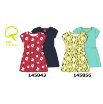 145856 Empower up small girls twopack dress limelight (10 pcs)