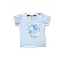 145088 Code create baby boys shirt light blue+light grey melange (8 pcs)