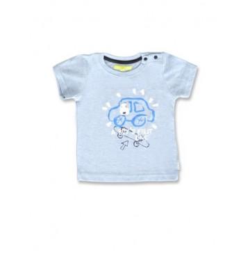 145088 Code create baby boys shirt light blue+light grey melange (8 pcs)