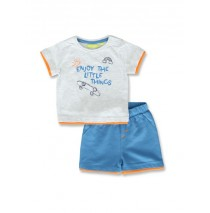 145094 Code create baby boys set light grey+blue bell (8 pcs)