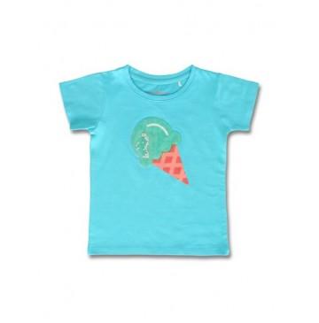 145131 Designing emotion small girls shirt bachelor button+fushia pink  (12 pcs)