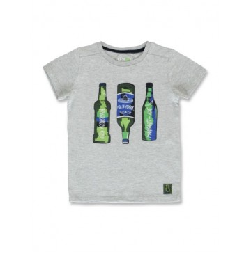 145278 Code create small boys shirt grey melange+navy blazer  (12 pcs)