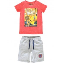 145283 Empower up small boys set spiced coral+navy blazer (12 pcs)