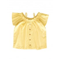 145402 Code create small girls blouse yellow+canteloupe (12 pcs)