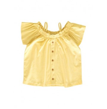 145402 Code create small girls blouse yellow+canteloupe (12 pcs)