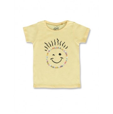 145415 Code create small girls shirt yellow melange+canteloupe (12 pcs)