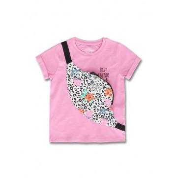 145468 Empower up small girls shirt fushia pink+limelight (12 pcs)