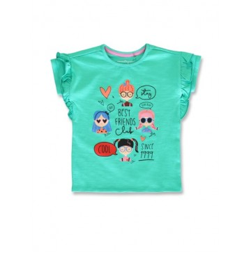 145497 Empower up small girls shirt mint leaf+canteloupe (12 pcs)