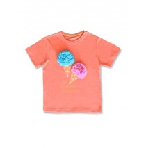 145510 Designing emotion small girls shirt living coral+bachelor button (12 pcs)