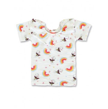 145544 Code create small girls shirt optical white+bachelor button (12 pcs)