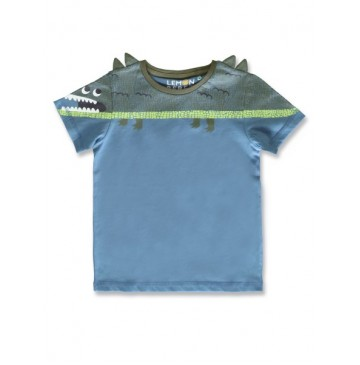 145663 Empower up small boys shirt blue heaven+limelight  (12 pcs)