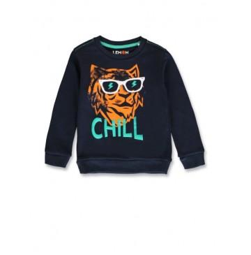 145669 Empower up small boys sweatshirt navy blazer+princess blue (12 pcs)