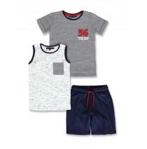 145732 Empower up small boys 3-set optical white+navy blazer (12 pcs)