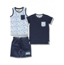 145733 Empower up small boys 3-set navy blazer+burnt olive (12 pcs)