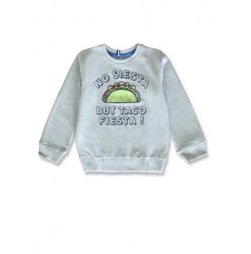 145752 Designing emotion small boys sweatshirt grey melange+navy blazer (12 pcs)
