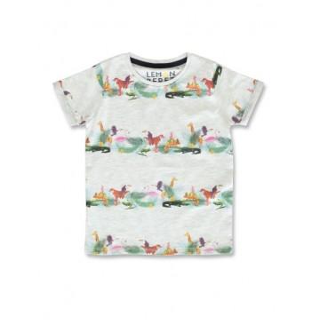 145786 Designing emotion small boys shirt light grey+burnt olive (12 pcs)
