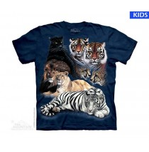 Big Cat Collage Child T Shirt (4 pcs)