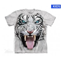 Big Face Tribal White Tiger Child T Shirt (4 pcs)
