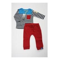 Deals - Artisan set: shirt+pant mediterranian blue (4 pcs)