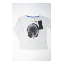 Small girls shirt gray melange (4 pcs)