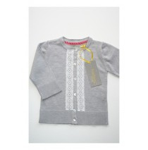 Quietude cardigan grey melange (4 pcs)