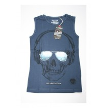 Deals - Edgelands teen boys singlet Combo 2 insignia blue (6 pcs)