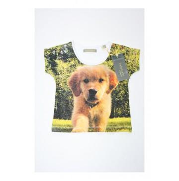 131714 Encounter baby girls shirt combo 2 dog (4 pcs)